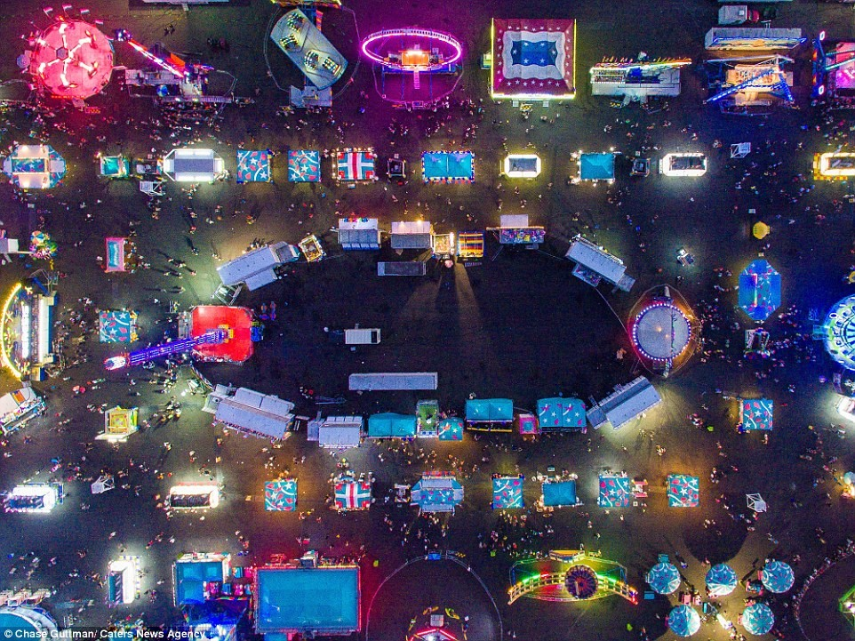 Hội chợ The Great New York State - Ảnh chụp từ flycam