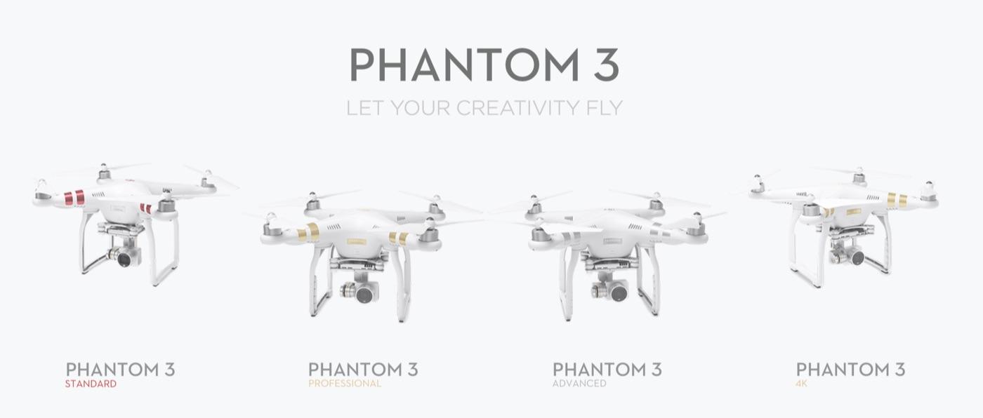 4 phiên bản phantom 3