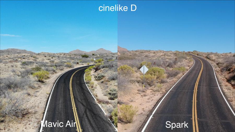 Màu sắc hình ảnh của Mavic Air và Spark