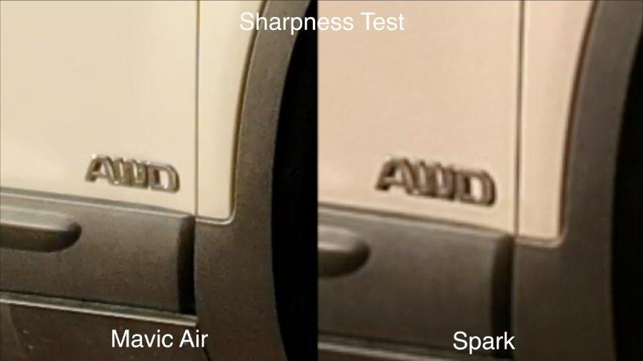 Độ sắc nét của Mavic Air và Spark