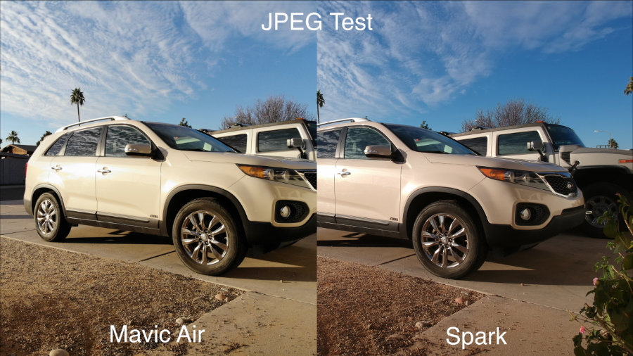 So sánh DJI Mavic Air vs DJI Spark